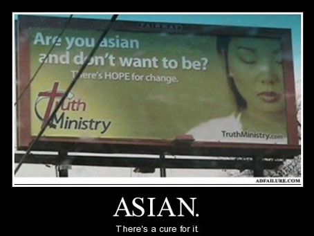 Asians are funny on my money.
